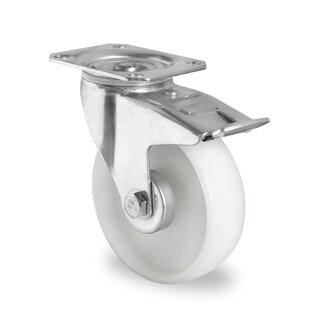 swivel castor with total brake, CASCOO Premium, Ø 160 mm, PA