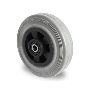 single wheel,  Ø 200 mm, solid rubber